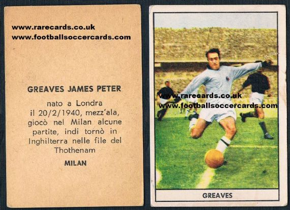 1961 Greaves Stella gum card, type 2
